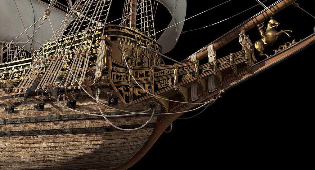 Virtual 3D Model Ship 6