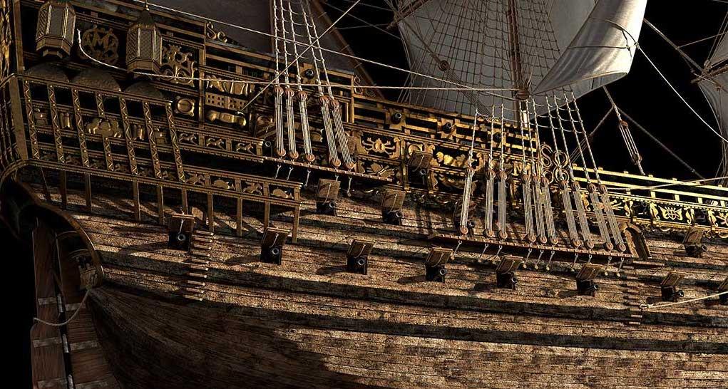 Virtual 3D Model Ship 5