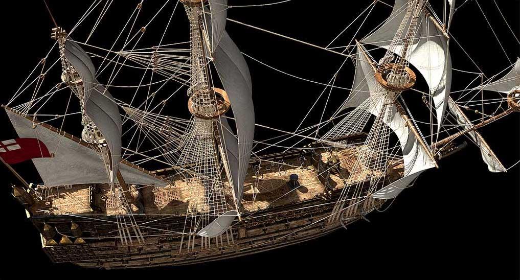 Virtual 3D Model Ship 3