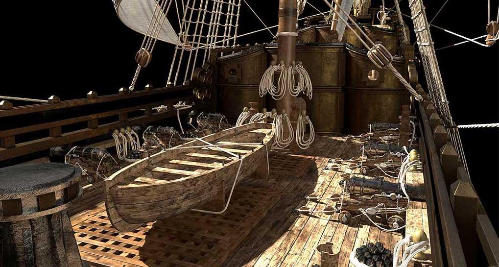 Virtual 3D Model Ship 2