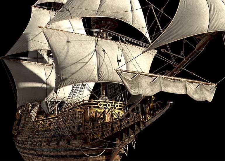 Virtual 3D Model Ship 1