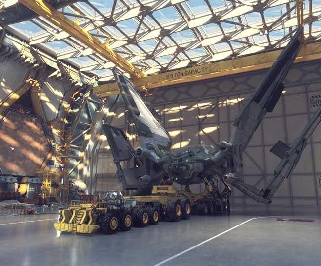 Star Fighter Hanger 3D Model