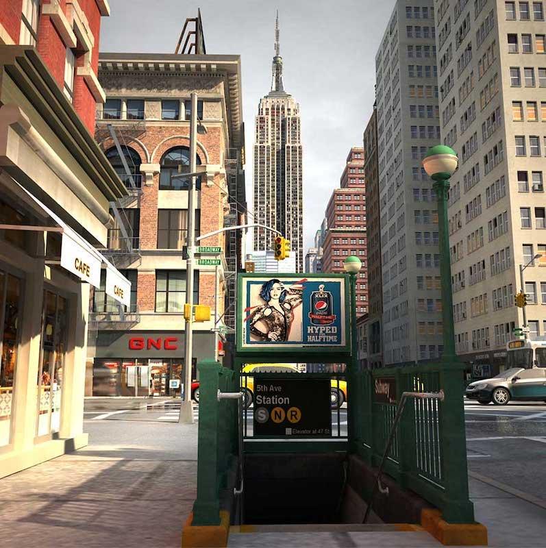 New York City Street 4K/3D Virtual Set 2