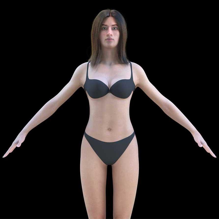 Animated AR Female Character 4