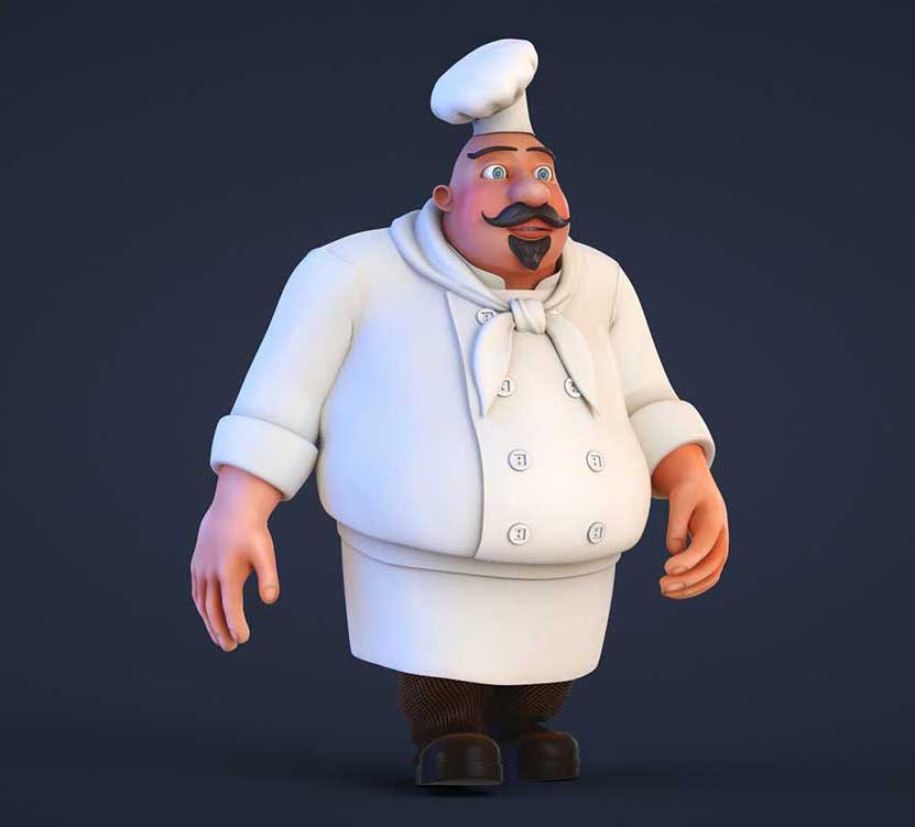 Animated AR Chef Character 8