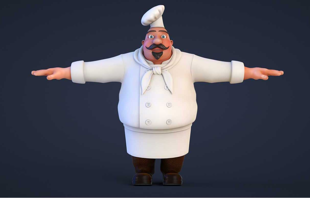 Animated AR Chef Character 7