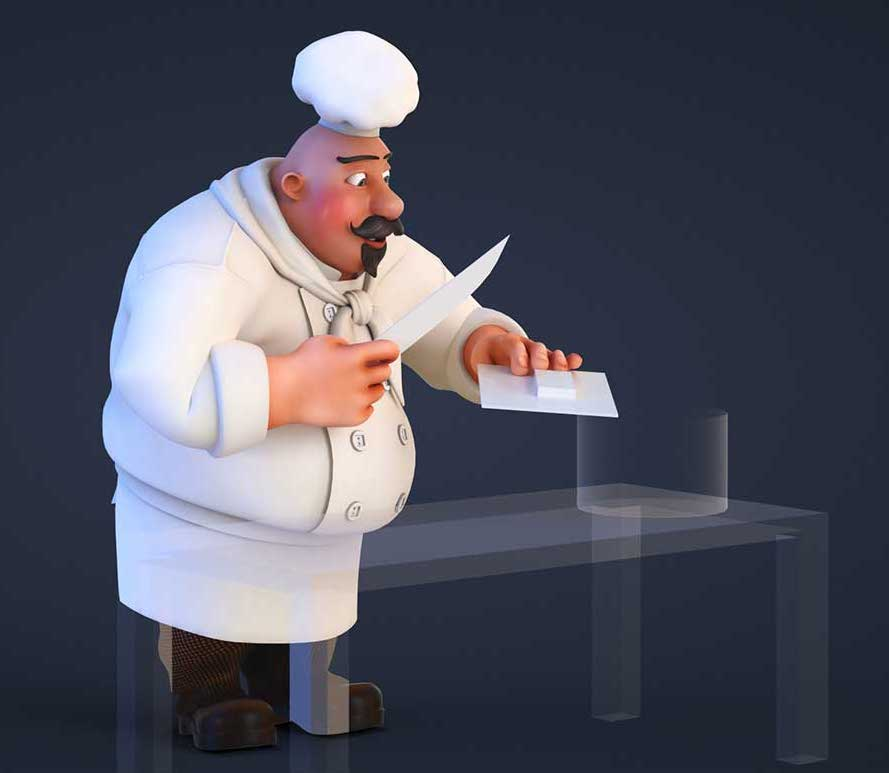 Animated AR Chef Character 5