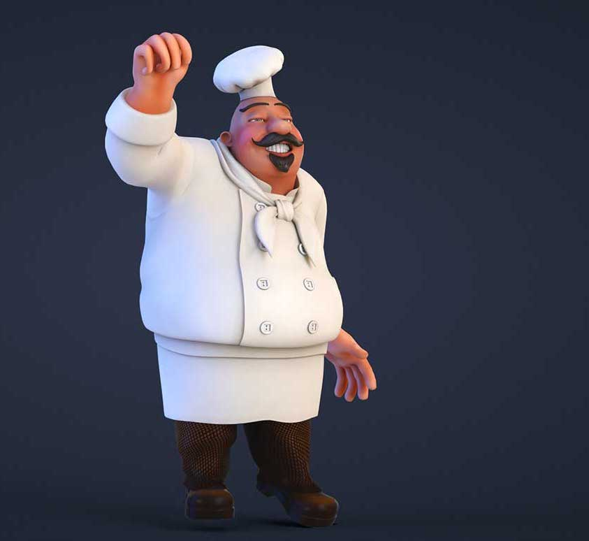 Animated AR Chef Character 4
