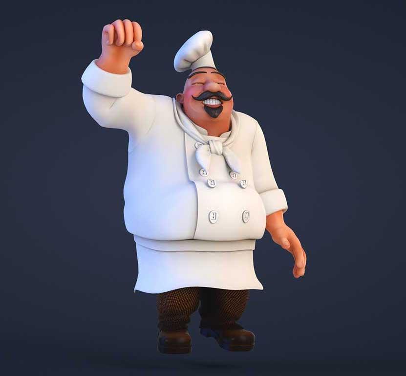 Animated AR Chef Character 3