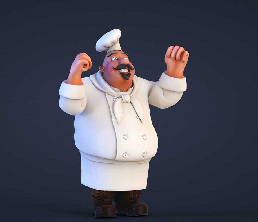 Animated AR Chef Character 1
