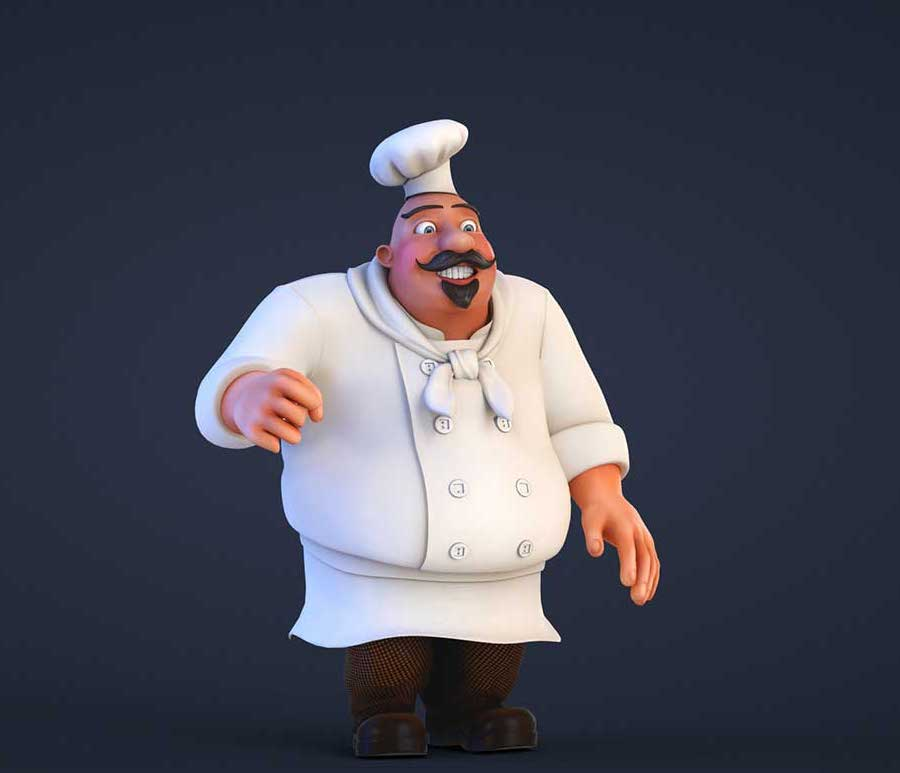Animated AR Chef Character 2