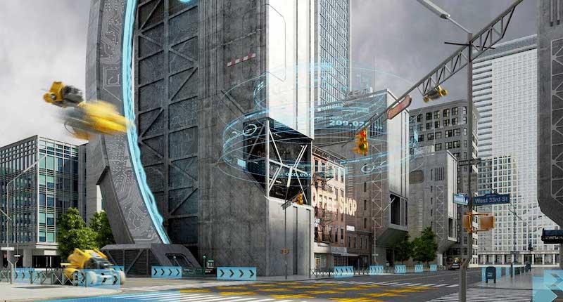 Animated AR Futuristic City 2