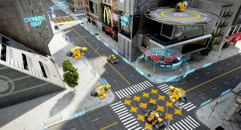 Animated AR Futuristic City 3