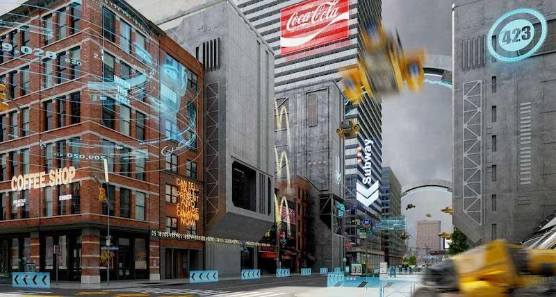 Animated AR Futuristic City 4