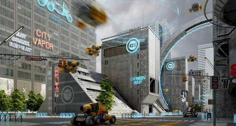 Animated AR Futuristic City 5