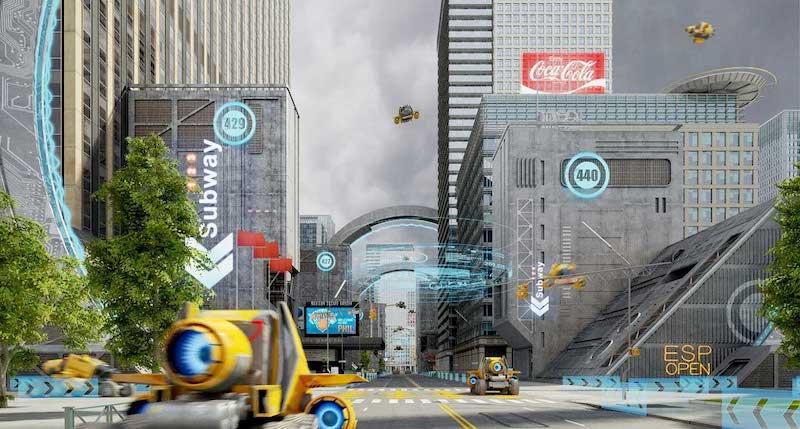 Animated AR Futuristic City 7