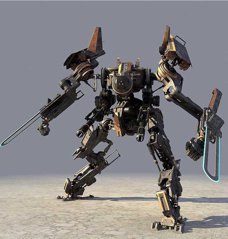Animated AR Mechanical Robots 4