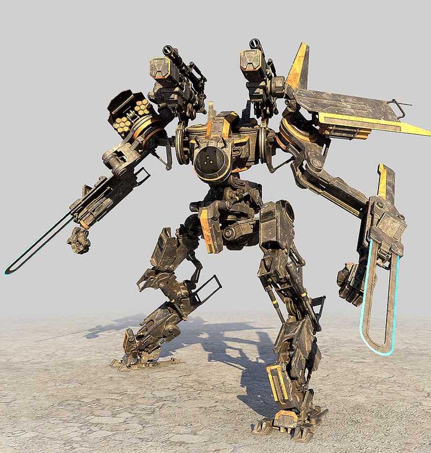 Animated AR Mechanical Robots 2