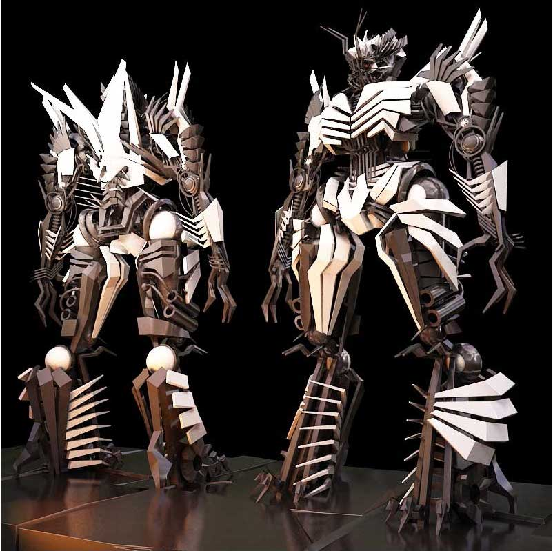 Animated AR Twin Robot Characters 4