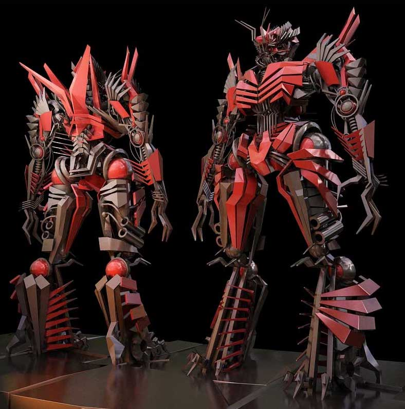 Animated AR Twin Robot Characters 1