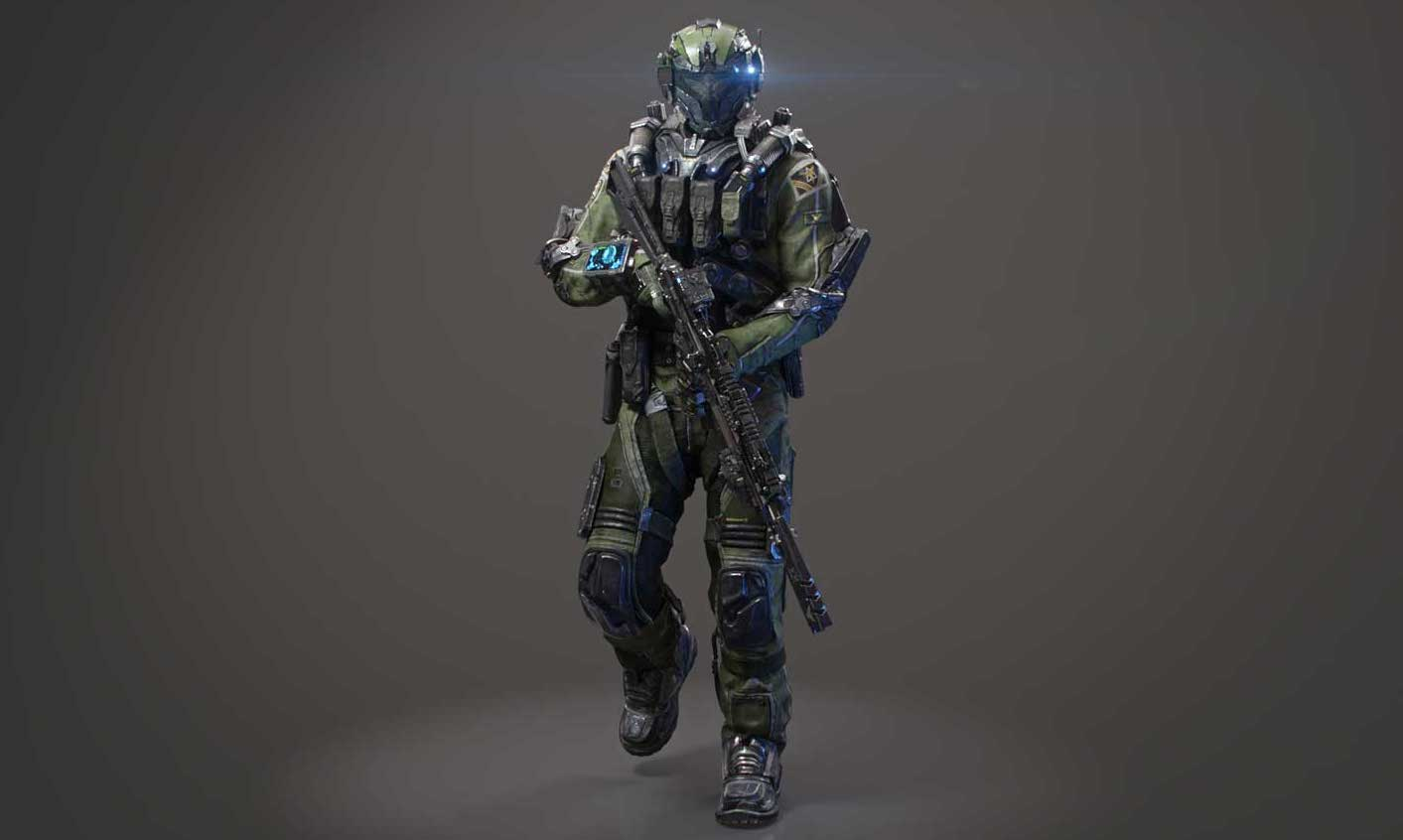 Animated AR Sci-Fi Soldier Character 5