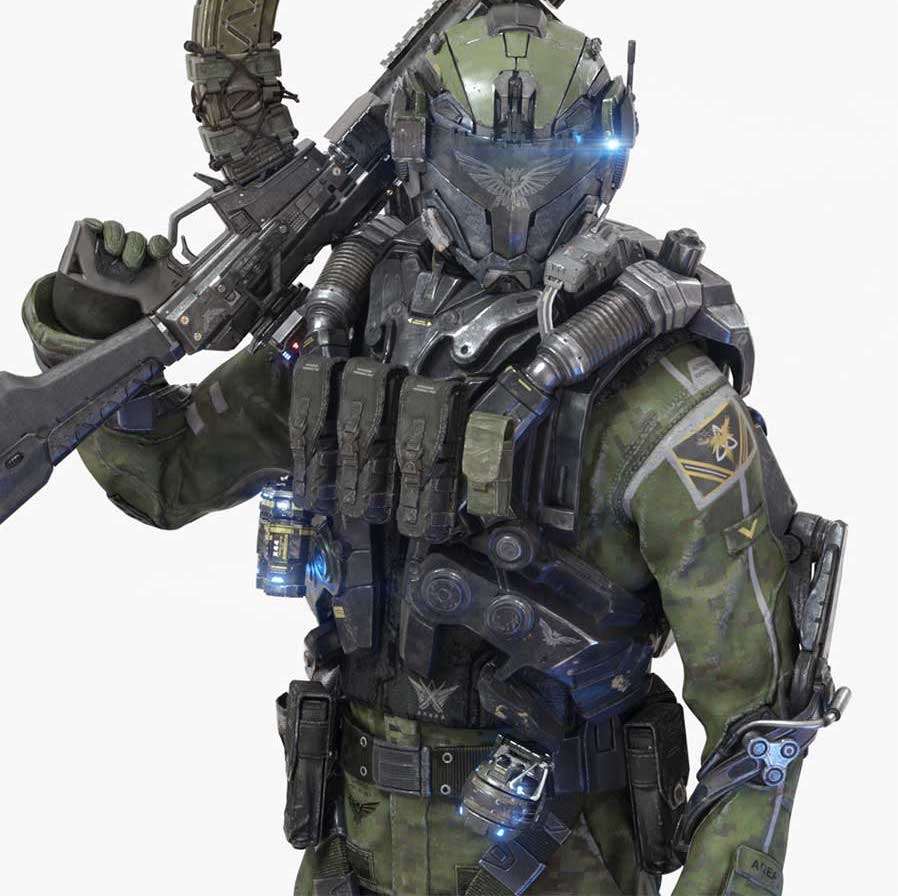 Animated AR Sci-Fi Soldier Character 3