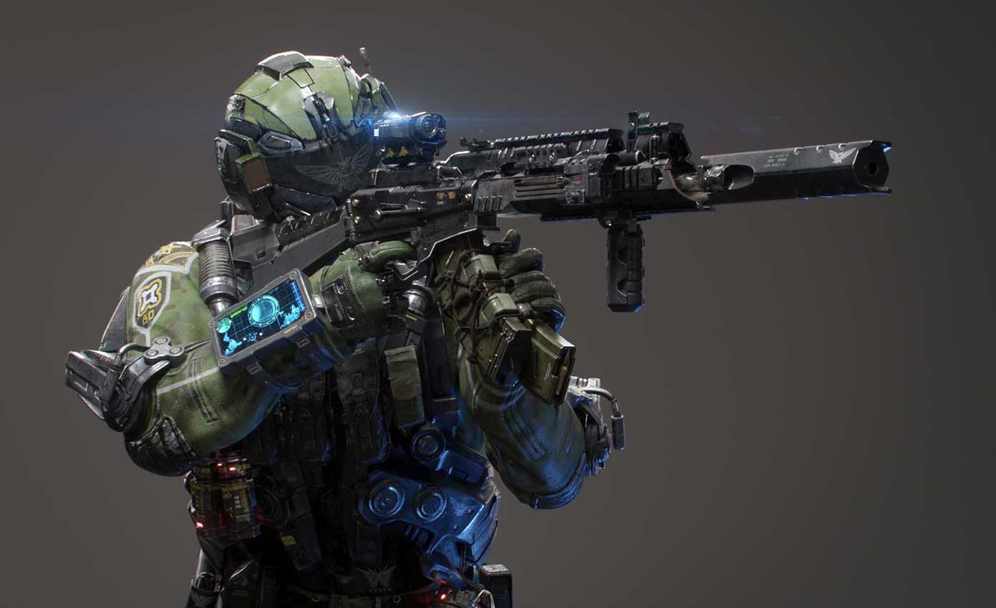 Animated AR Sci-Fi Soldier Character 2