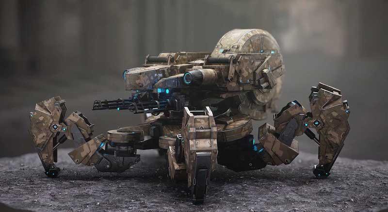 Animated AR Spider Tank 2