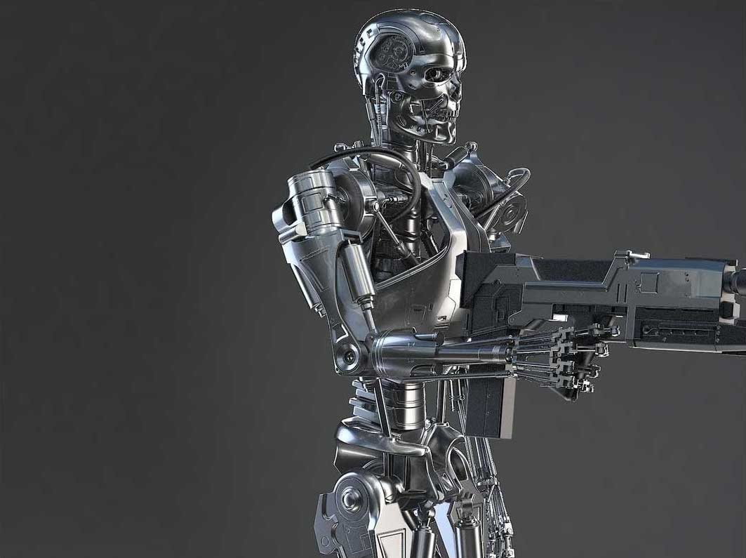 Animated AR Terminator Character 3