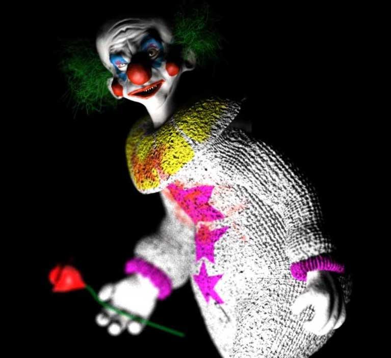 Animated AR Weird Clown Character
