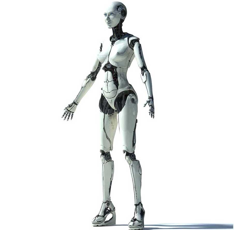 Animated AR Cyborg Character
