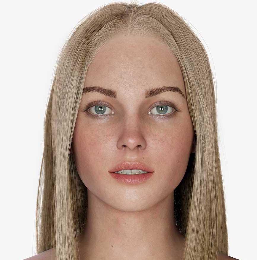 Animated AR Girl Character