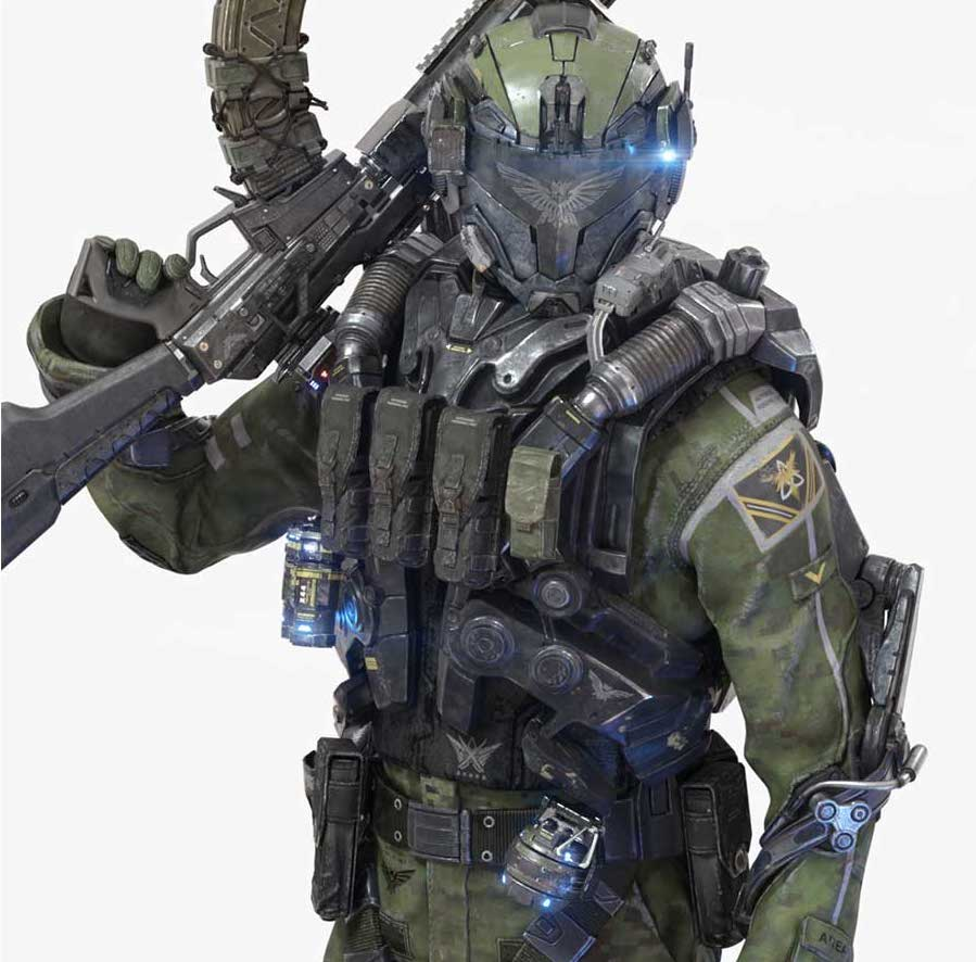 Animated AR Sci-Fi Soldier Character