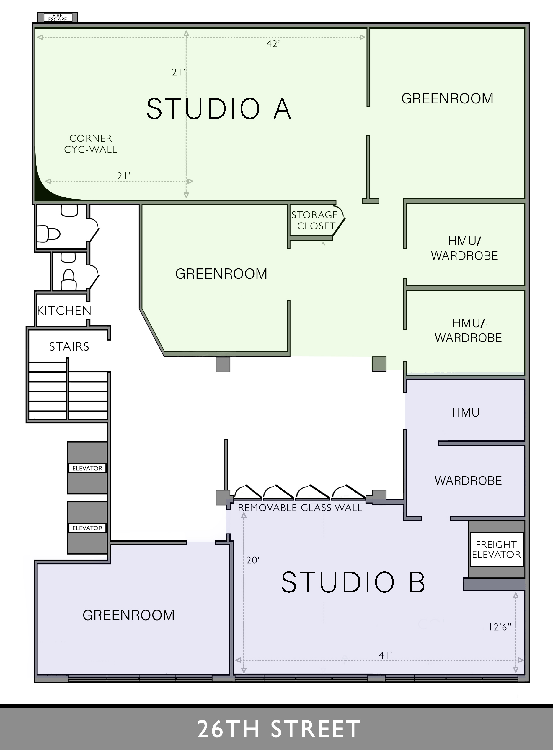 Chelsea South White Cyc Floor Plan