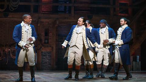 Scene from Play Hamilton on Disney Plus