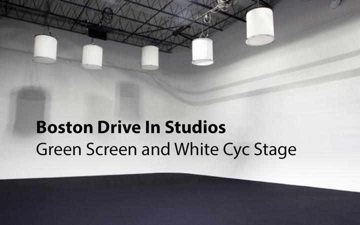 Boston Drive-In Studios Green Screen and White Cyc Stage
