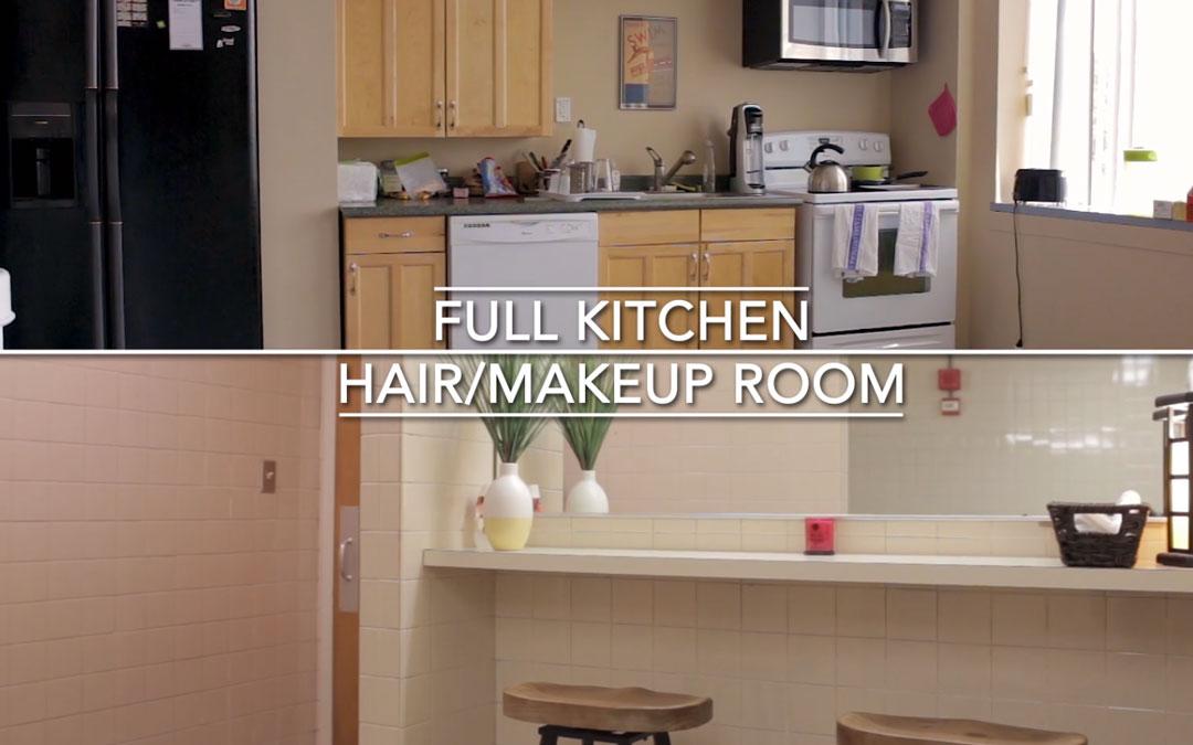 Massachusetts green screen studio rental full kitchen and makeup room