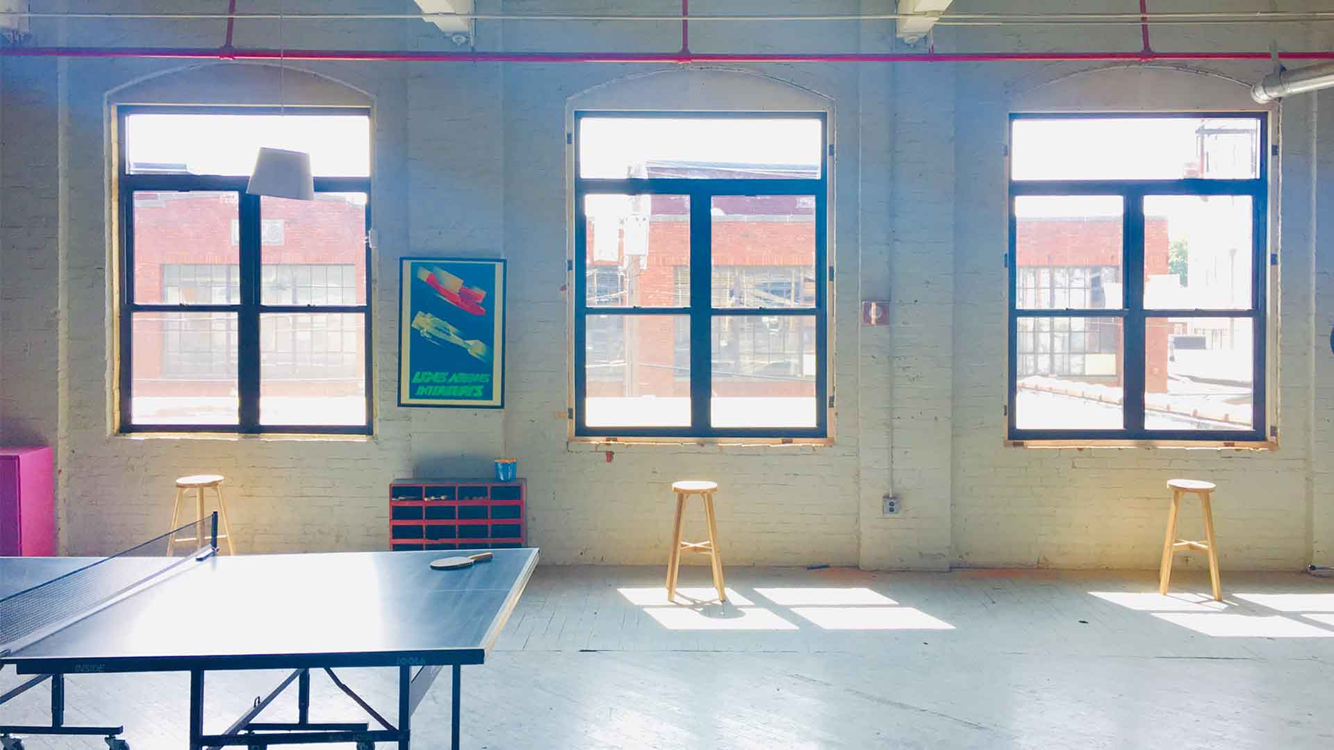 NJ Epic Studio and Event Space Windows