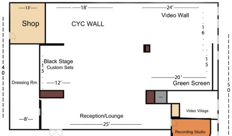 Midtown Green Screen Studio Floor Plan