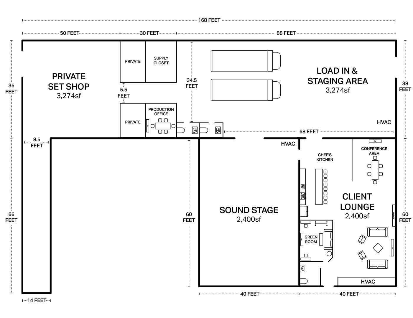 Philadelphia Prime Studios Floor Plan