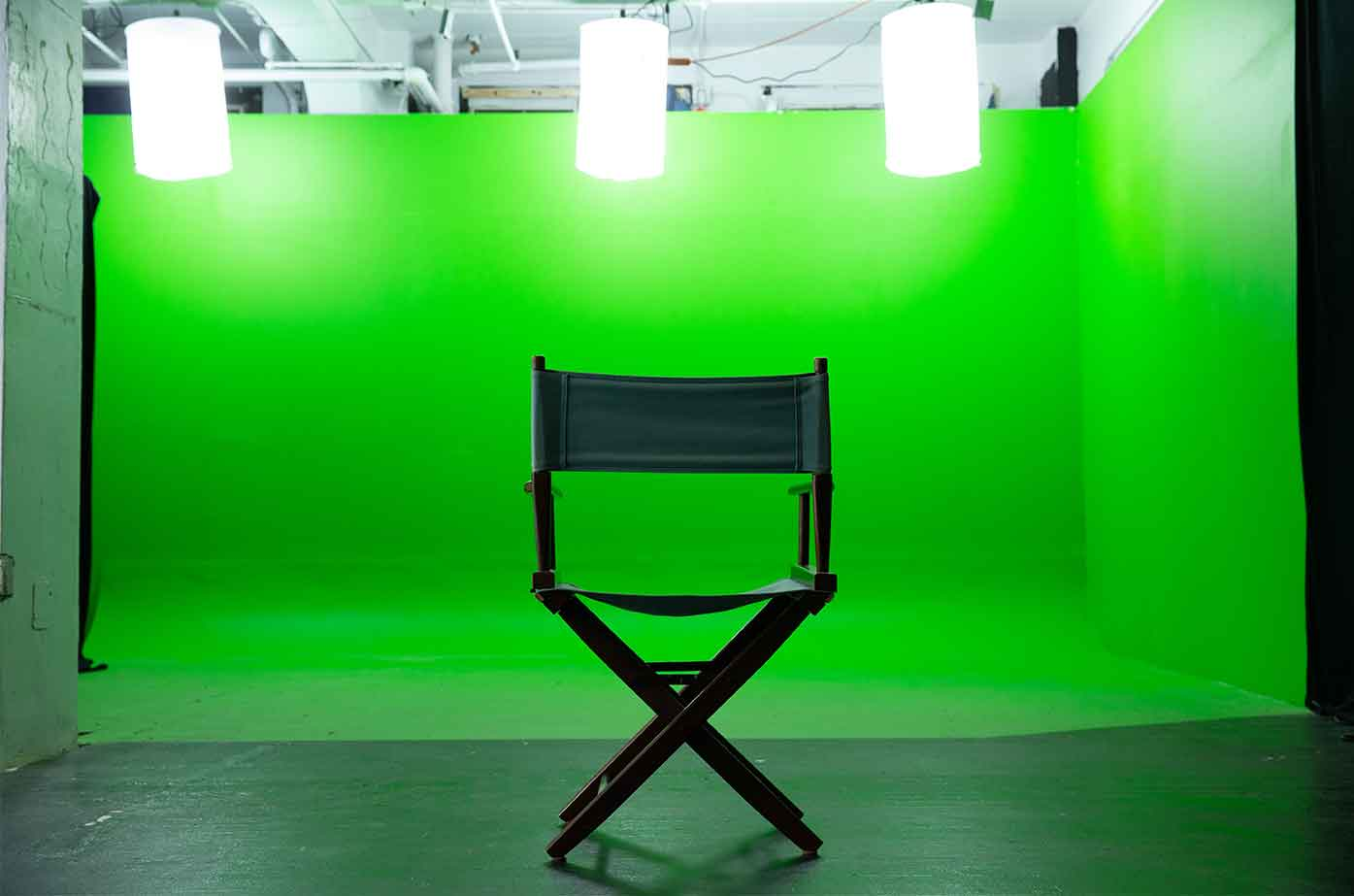 Director's Chair at Midtown Green Screen Studio