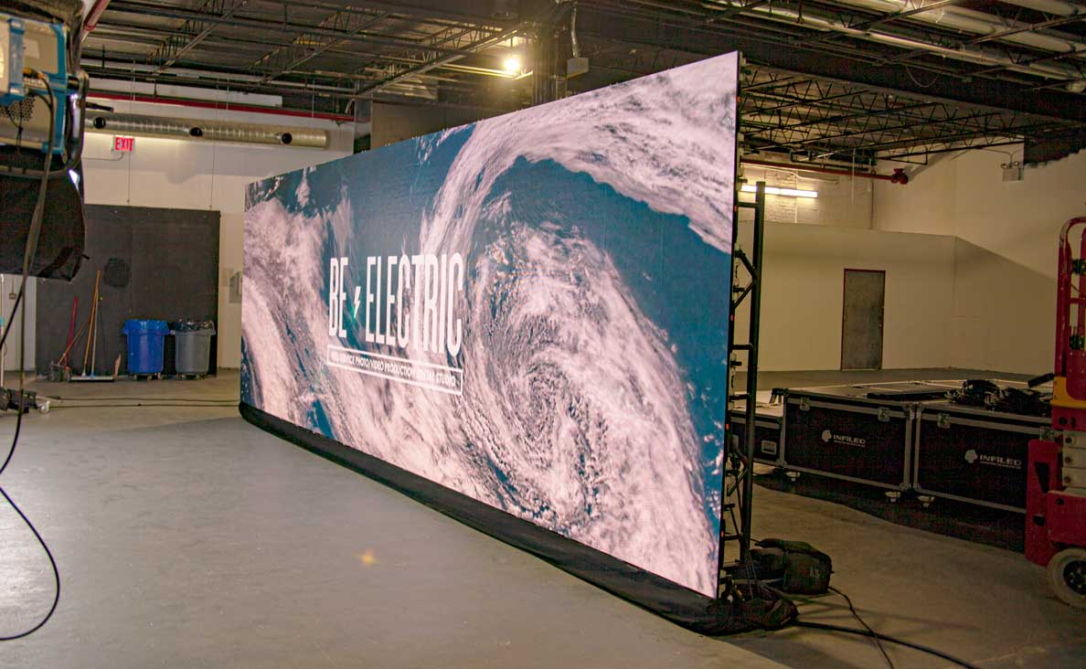 LED Video Wall Stage from an angle
