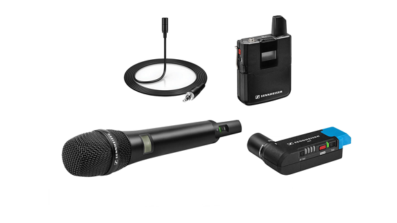 SANHEISER LAV-MIC and Receiver and hand held mic