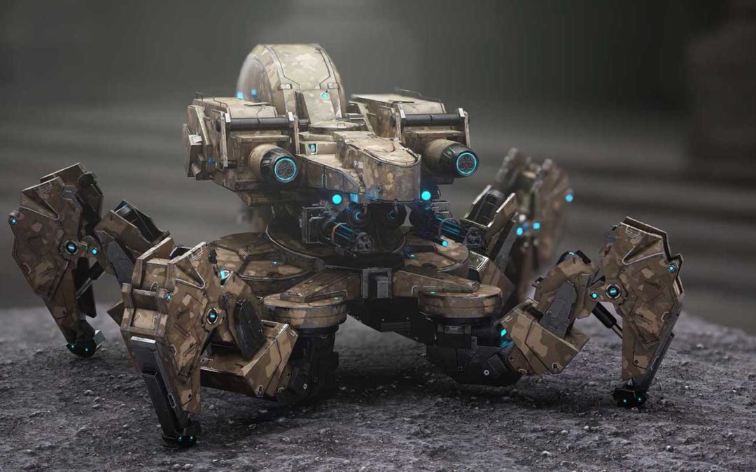 Animated AR Spider Tank