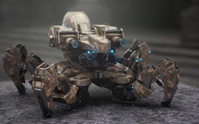 Animated AR Spider Tank