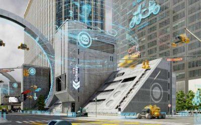 Animated AR Futuristic City